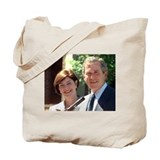President George W. and Laura Bush Tote Bag