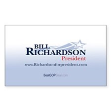 """Bill Richardson 2008"" Rectangle Decal"