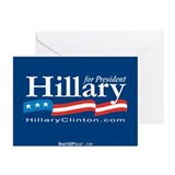 """Hillary Clinton 2008"" Greeting Cards (10)"