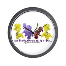 Pretty Flowers in a Row Wall Clock