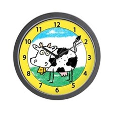 Silly Cow Wall Clock