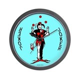 "Blue ""Joker"" Wall Clock"