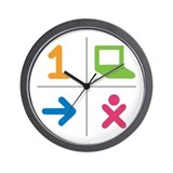 4 Square Logo No Text Wall Clock