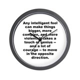 C quotation Wall Clock