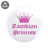 "Zambian Princess 3.5"" Button (10 pack)"