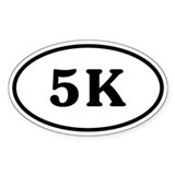 5 K Runner Oval Decal