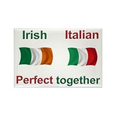 Irish Italian Rectangle Magnet