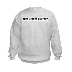 Ones hearts content Kids Sweatshirt