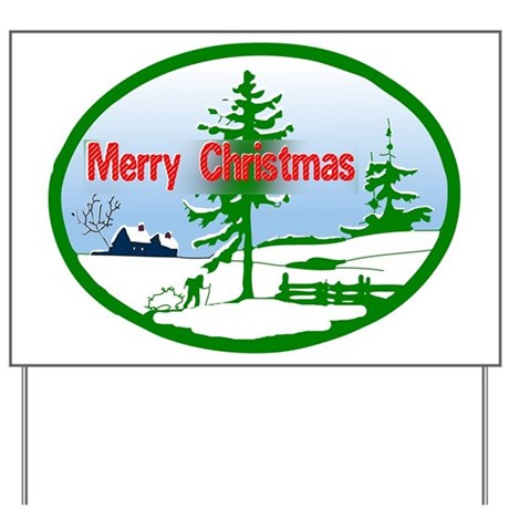 Winter Scene Yard Sign
