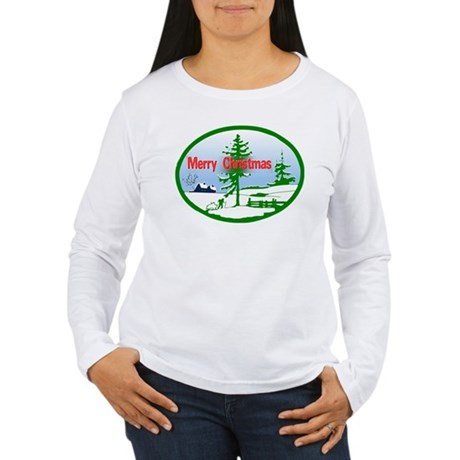Winter Scene Women's Long Sleeve T-Shirt