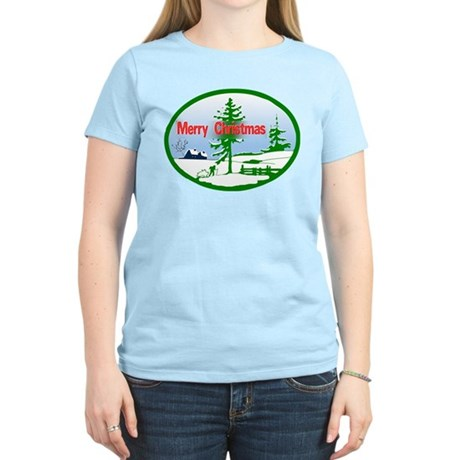 Winter Scene Women's Light T-Shirt