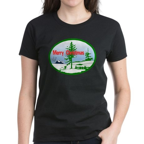 Winter Scene Women's Dark T-Shirt