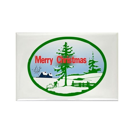 Winter Scene Rectangle Magnet (10 pack)