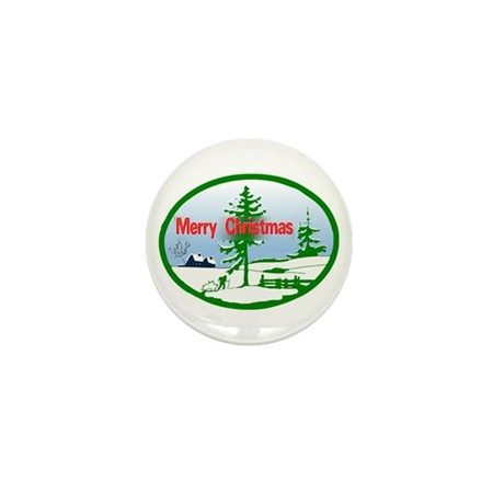 Winter Scene Mini Button (10 pack)