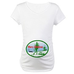 Winter Scene Maternity T-Shirt