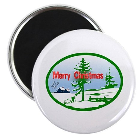 "Winter Scene 2.25"" Magnet (10 pack)"