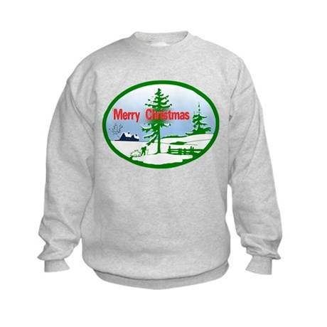 Winter Scene Kids Sweatshirt