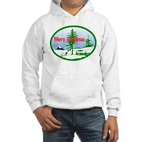 Winter Scene Hooded Sweatshirt