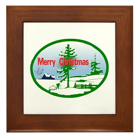 Winter Scene Framed Tile