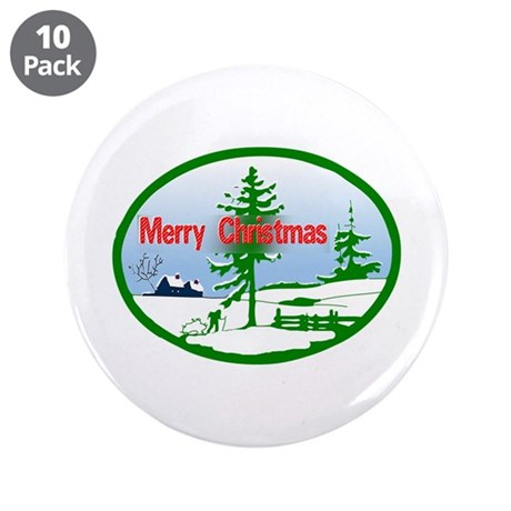 "Winter Scene 3.5"" Button (10 pack)"