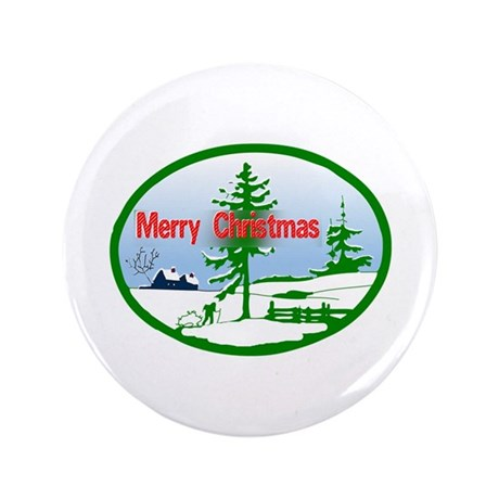 "Winter Scene 3.5"" Button (100 pack)"
