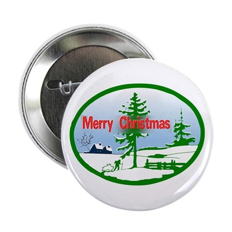 "Winter Scene 2.25"" Button"