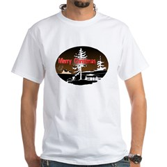 Dark Snow Scene White T-Shirt