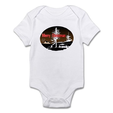 Dark Snow Scene Infant Bodysuit