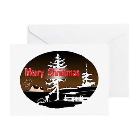 Dark Snow Scene Greeting Cards (Pk of 10)