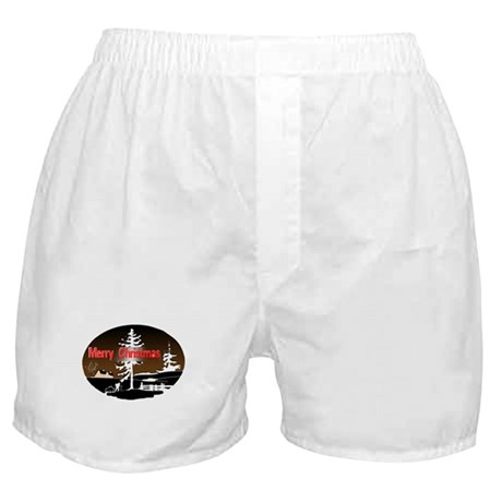 Dark Snow Scene Boxer Shorts