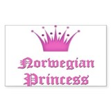 Norwegian Princess Rectangle Decal
