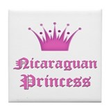 Nicaraguan Princess Tile Coaster