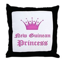 New Guinean Princess Throw Pillow