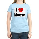 I Love Moose for Moose Lovers Women's Pink T-Shirt