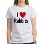 I Love Rabbits (Front) Women's T-Shirt