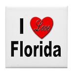 I Love Florida Tile Coaster