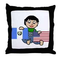 Guatemala Boy Throw Pillow