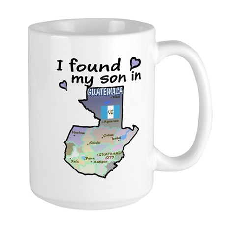 NEW! I found my son Large Mug 