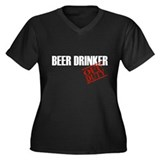 Off Duty Beer Drinker Women's Plus Size V-Neck Dar