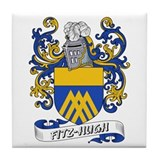 Fitz-Hugh Coat of Arms Tile Coaster