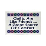Quilts ... Friends Rectangle Magnet (100 pack)