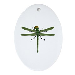 Dragonfly Oval Ornament