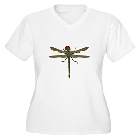Dragonfly Women's Plus Size V-Neck T-Shirt