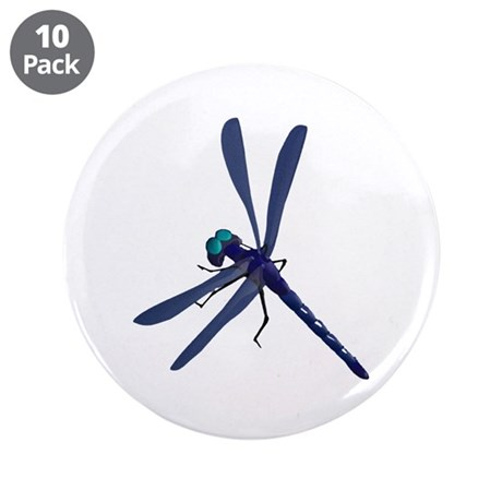 Dragonfly 3.5&quot; Button (10 pack)