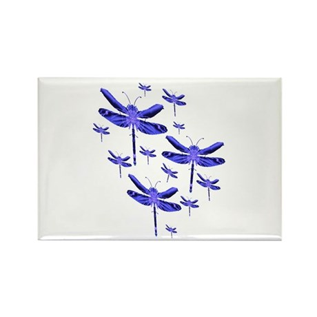 Dragonflies Rectangle Magnet (100 pack)