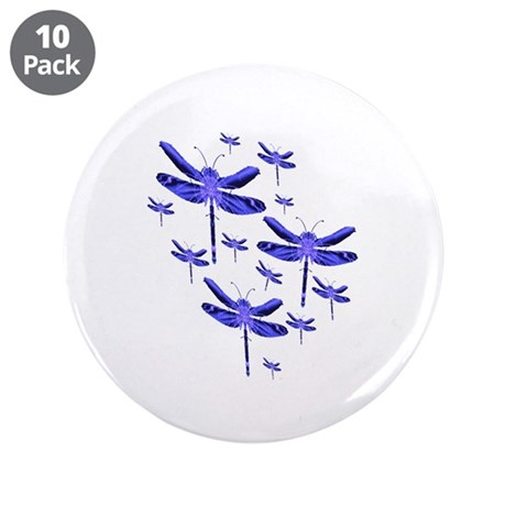 "Dragonflies 3.5"" Button (10 pack)"