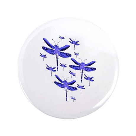 "Dragonflies 3.5"" Button (100 pack)"