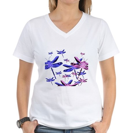 Dragonflies Women's V-Neck T-Shirt