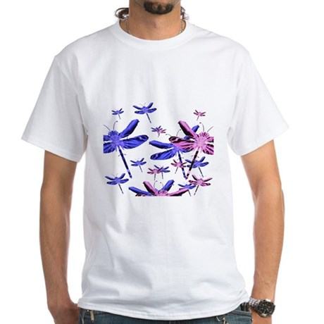 Dragonflies White T-Shirt
