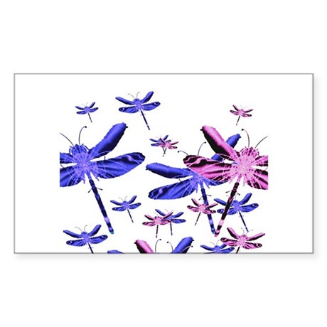 Dragonflies Rectangle Sticker